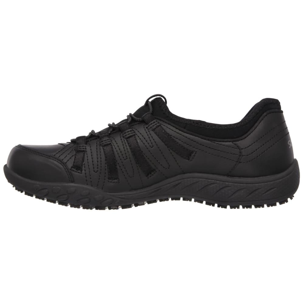 SKECHERS Women's Bungee Slip On Shoes - BLACK/STEEL/TROPICAL