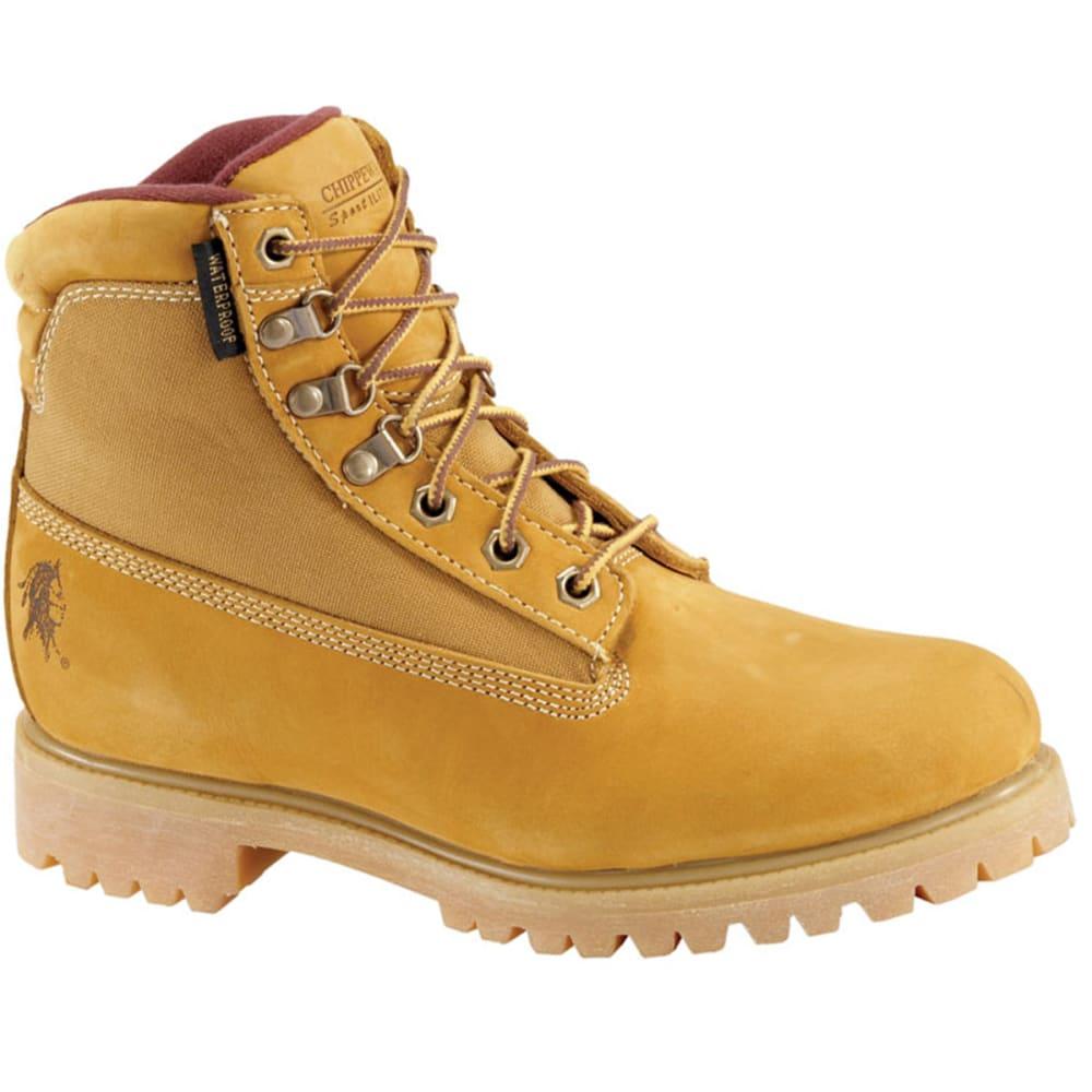 CHIPPEWA Men's 6 in. Nubuc Work Boots, Wide Width - TAN