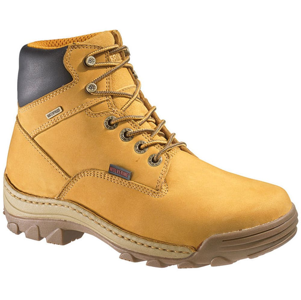 WOLVERINE Men's Insulated Waterproof Work Boots - TAN