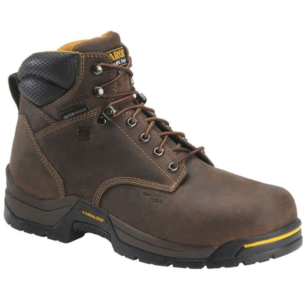 Carolina Men's 6 In. Waterproof Insulated Broad Toe Work Boots, 2E Width - Brown, 8
