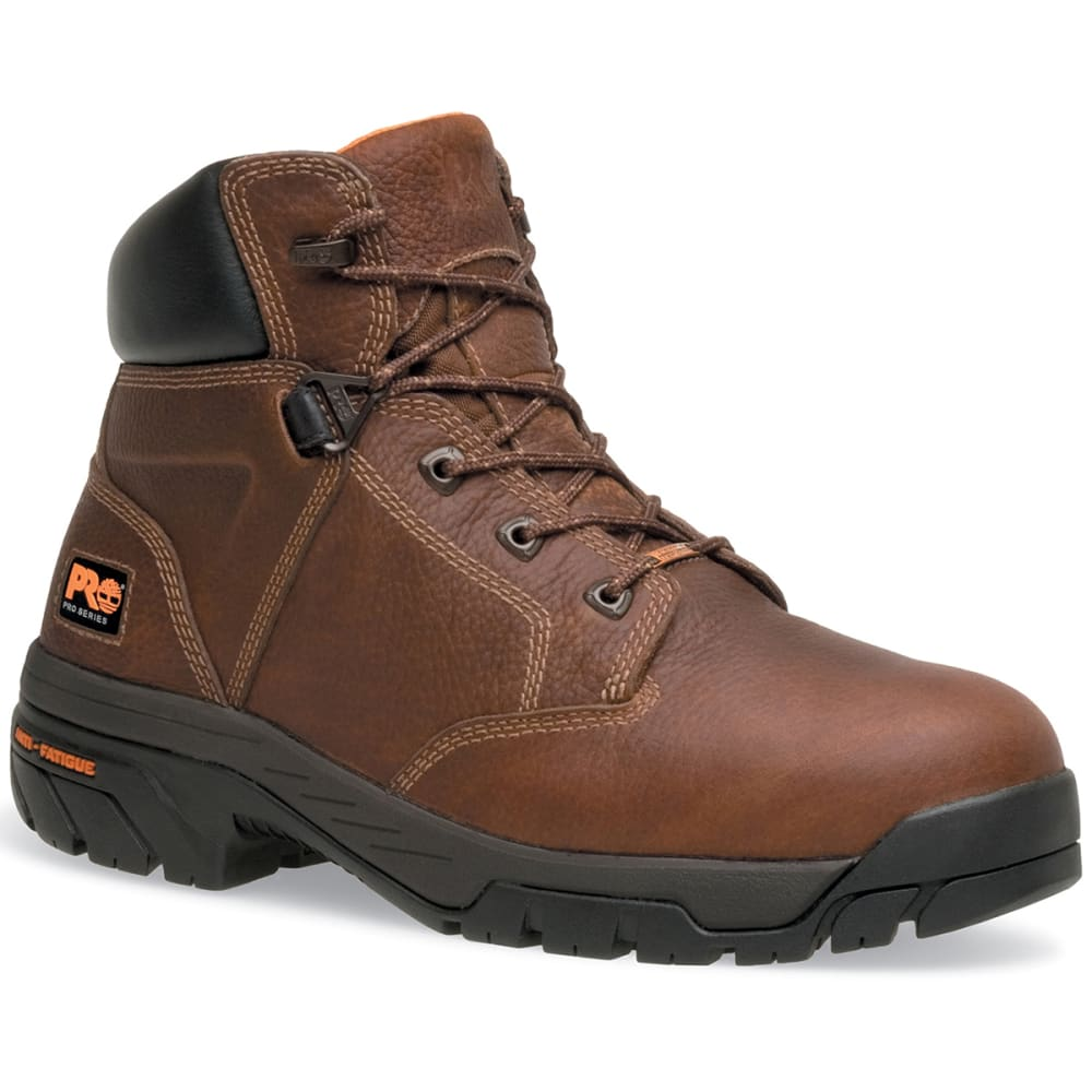 TIMBERLAND PRO Men's Helix 6 inch Slip Resistant Waterproof Work Boots - BROWN