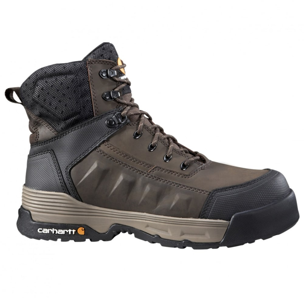 CARHARTT Men's Force 6 in. Work Boots - BROWN COATED LTHR