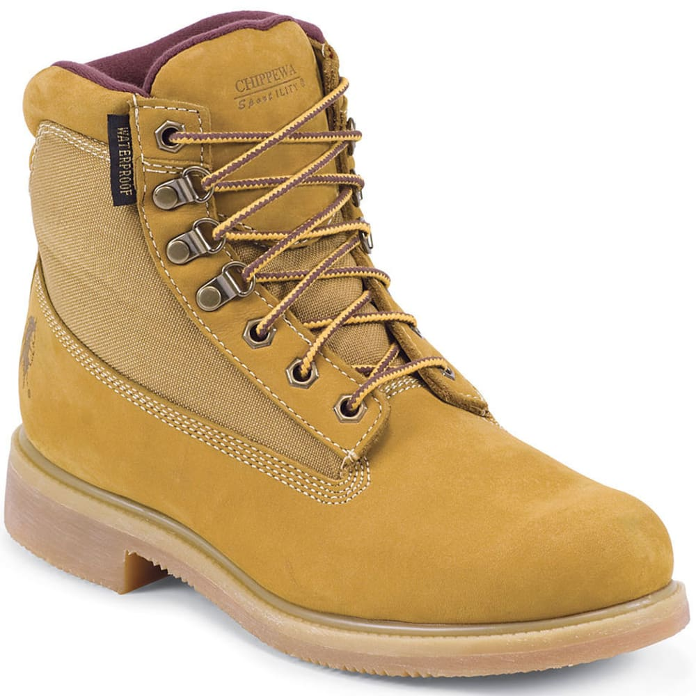 CHIPPEWA Men's Nubuc Utility Rugged Boots - BEIGE/TAN