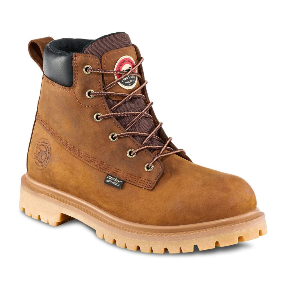 RED WING BOOTS Men's Irish Setter 6 in. Hopkins Work Boots - BROWN