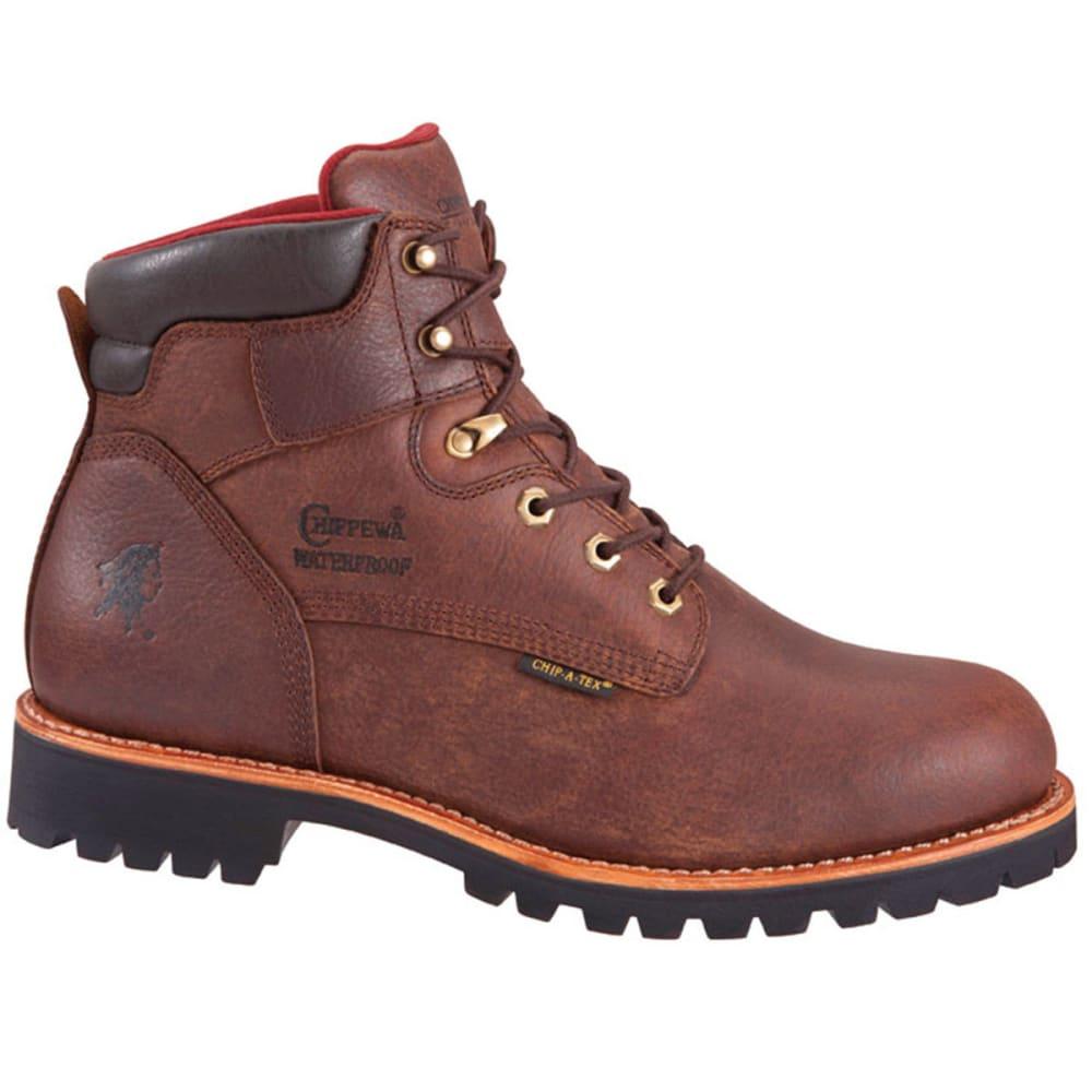 CHIPPEWA Men's 6 in. 99931 Waterproof 400 GRM Boots, Medium - BROWN