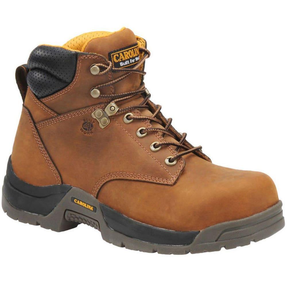 CAROLINA Men's 6 in. Waterproof Broad Toe Work Boots, Medium Width - BROWN