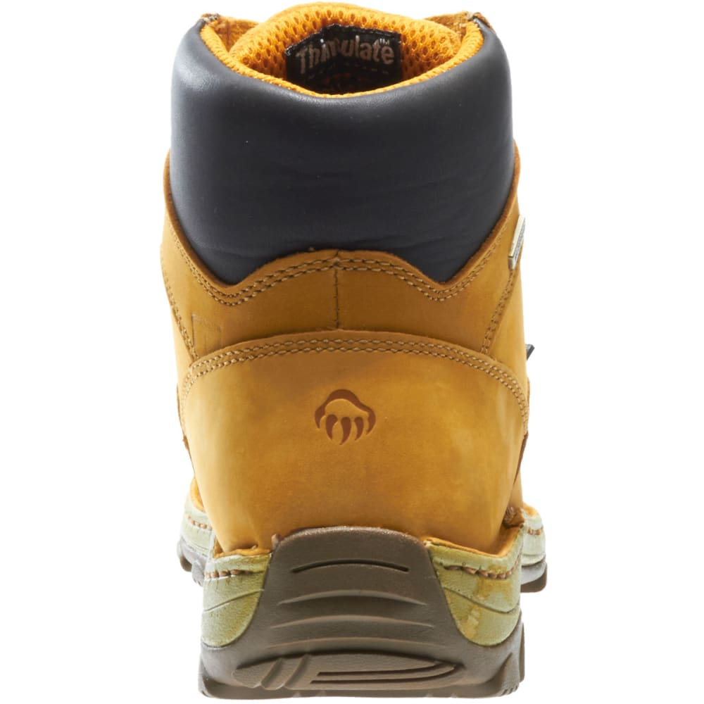 WOLVERINE Men's 6 in. Dublin Waterproof Insulated Work Boots, Wide - BROWN