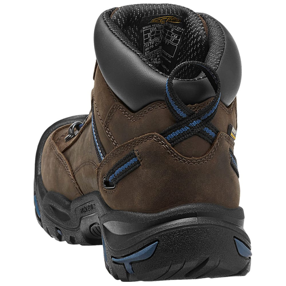 KEEN Men's Braddock Mid AL Waterproof Work Boots - BISON/ENSIGN BLUE