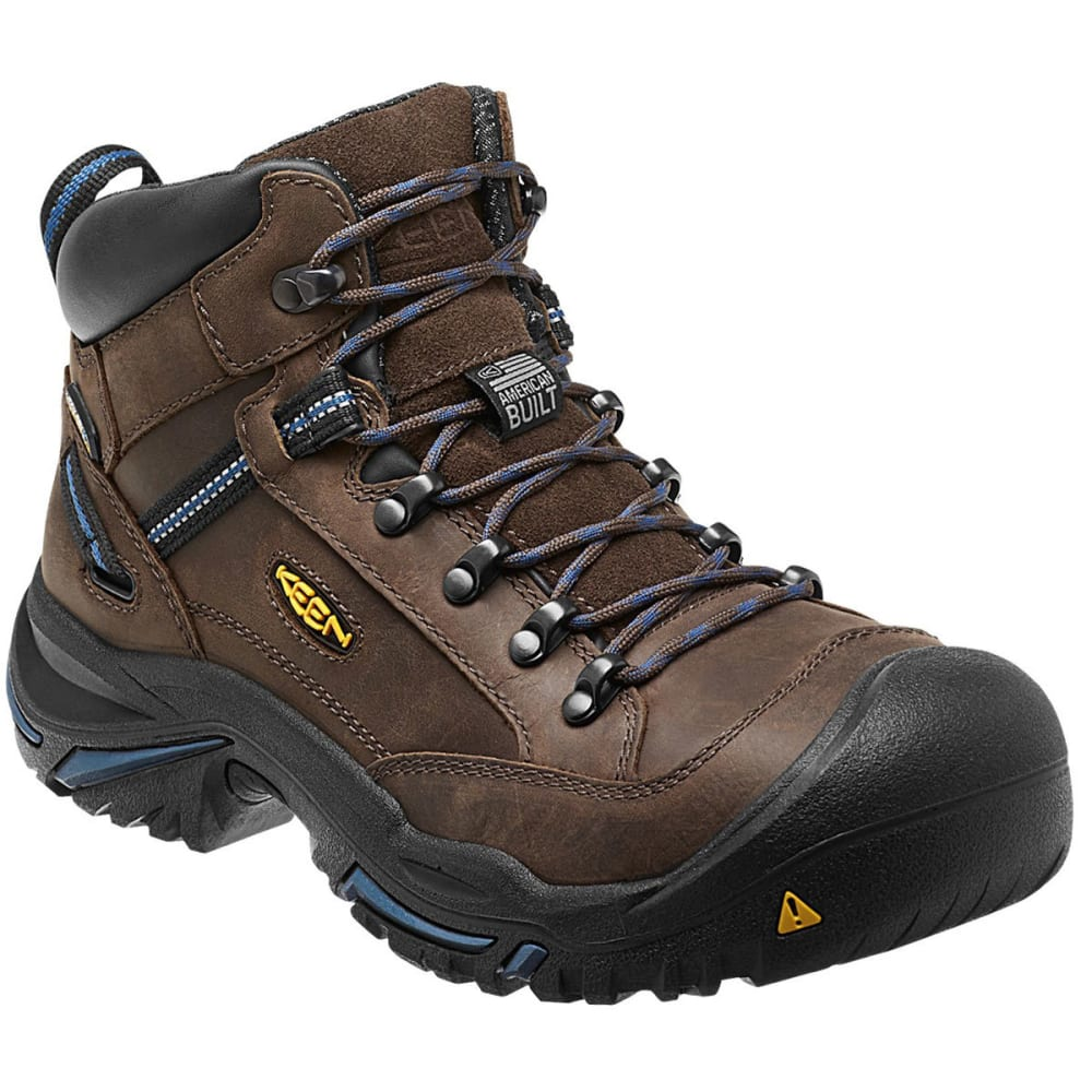 Keen Men's Braddock Mid Al Waterproof Work Boots - Brown, 9.5