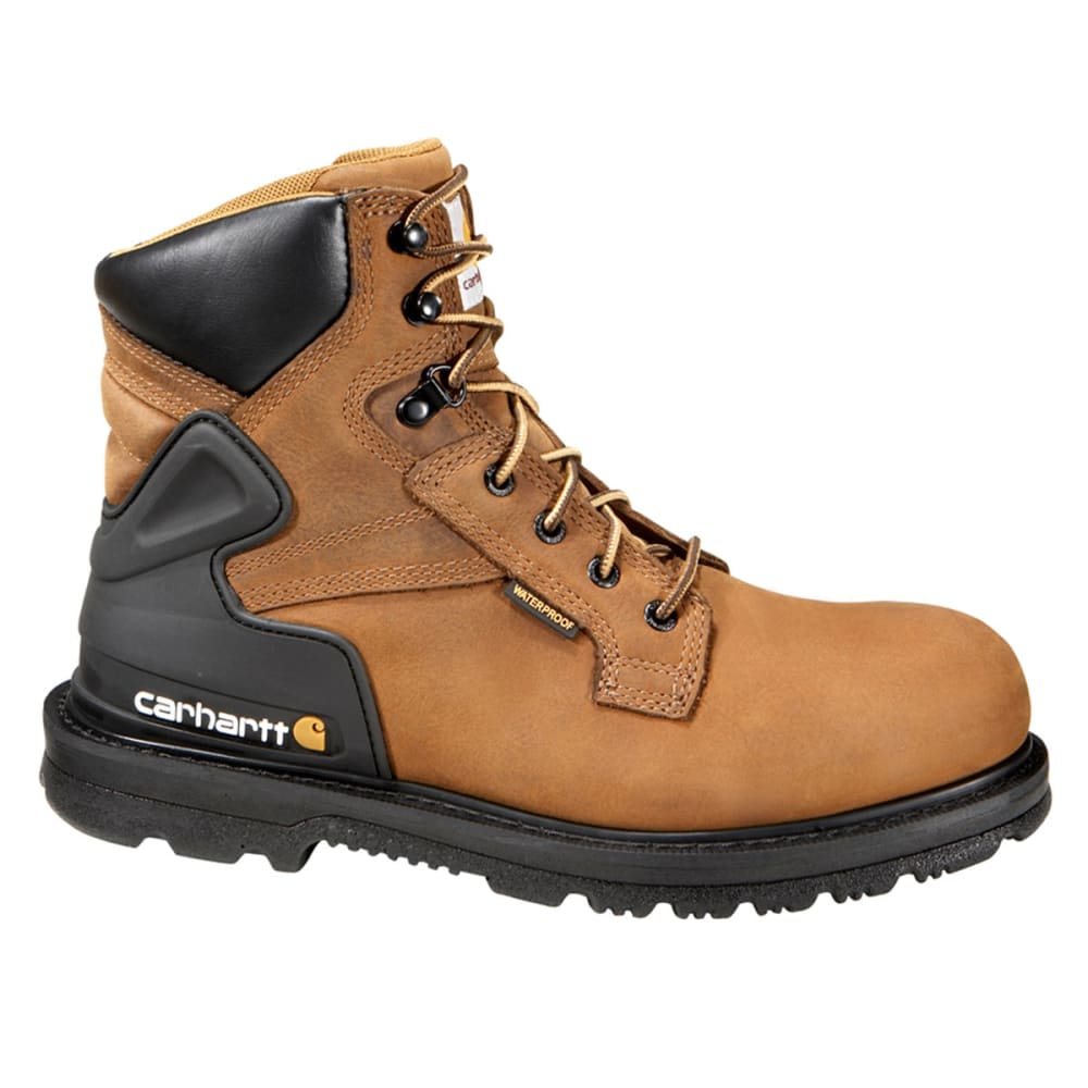 CARHARTT Men's 6-Inch Core Waterproof Work Boot - BISON BROWN - WIDE