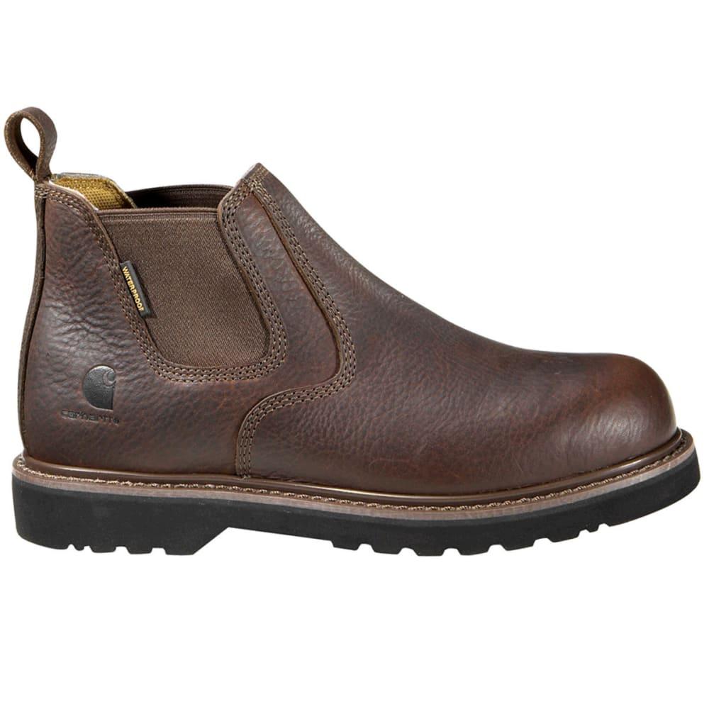 CARHARTT Men's 4-Inch Waterproof Romeo Shoes, Wide - DK BROWN OIL TANNED