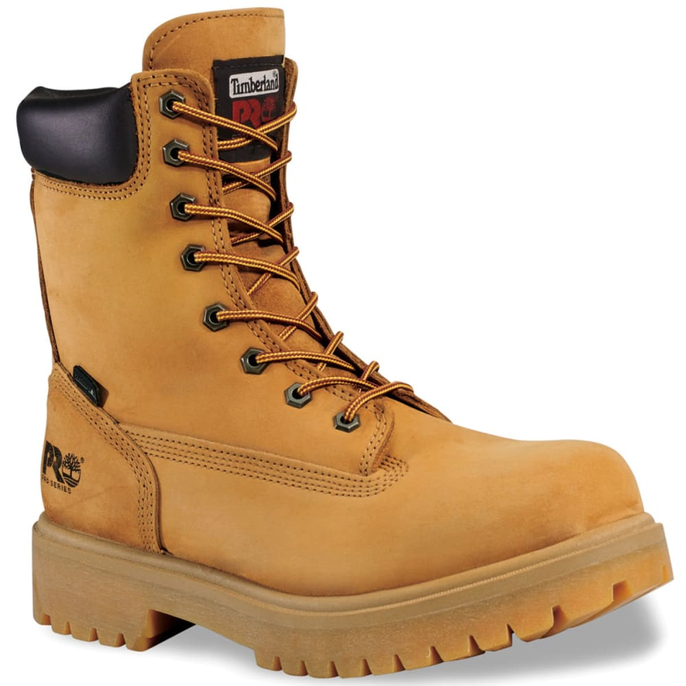 TIMBERLAND PRO Men's 8 inch Soft Toe Waterproof Work Boots, Medium - WHEAT