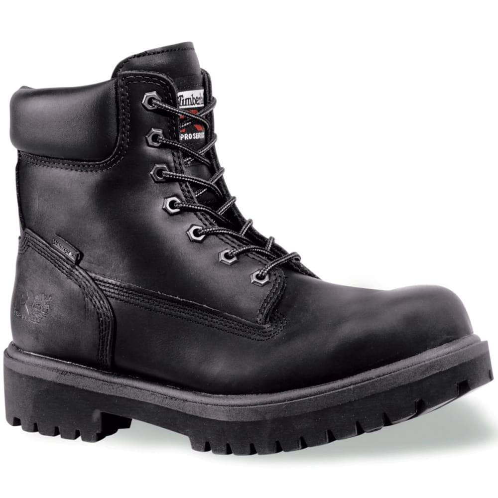 TIMBERLAND PRO Men's Soft Toe Waterproof Work Boots, Smooth Black, Wide - BLACK