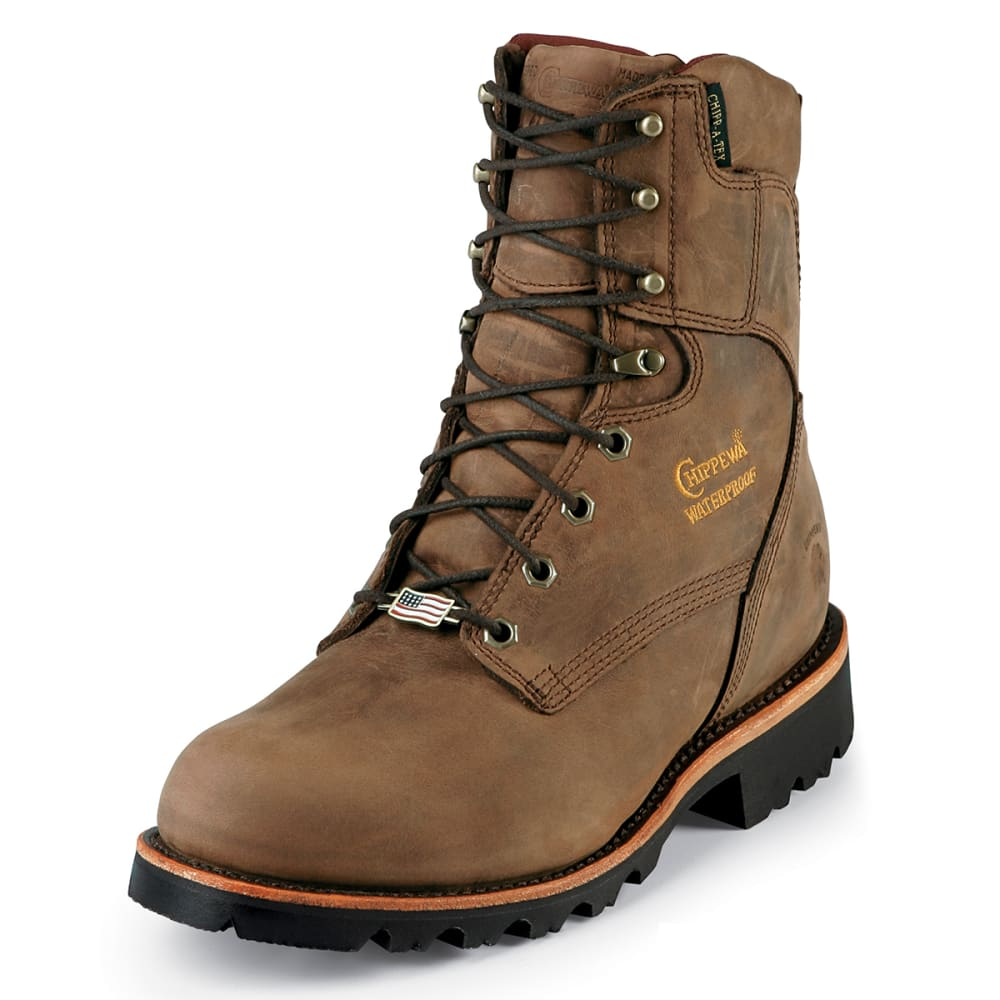 CHIPPEWA Men's 8 in. Waterproof Insulated Work Boots - BAY APACHE