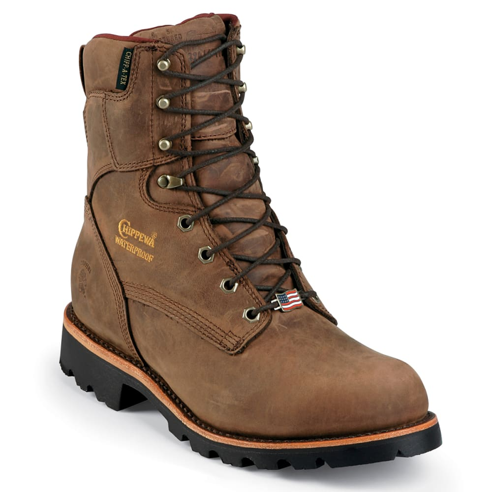 CHIPPEWA Men's 8 in. Ryodan Waterproof Insulated Work Boots - BAY APACHE