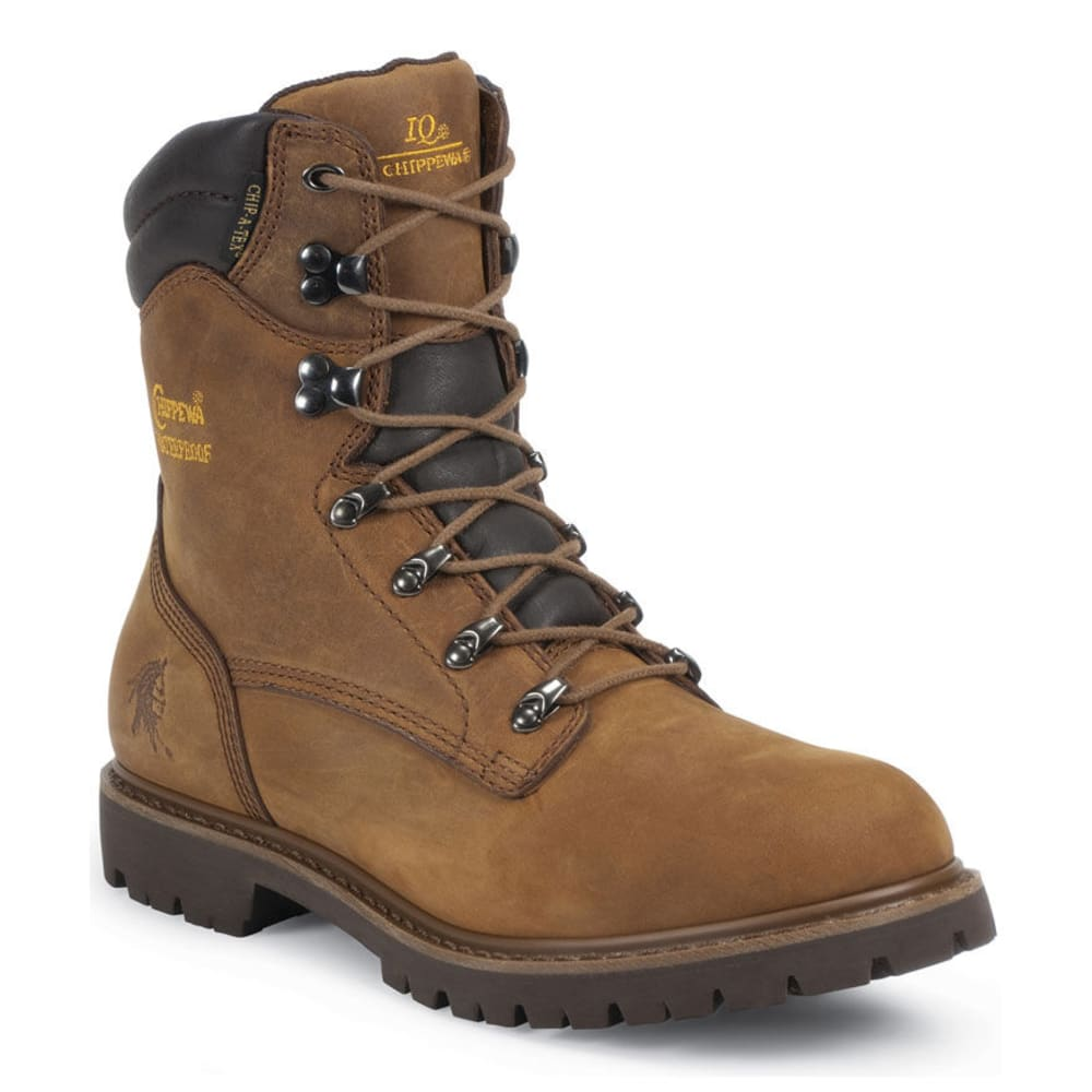 Chippewa Men's 55068M 8 In. Iq Work Boots - Brown, 8