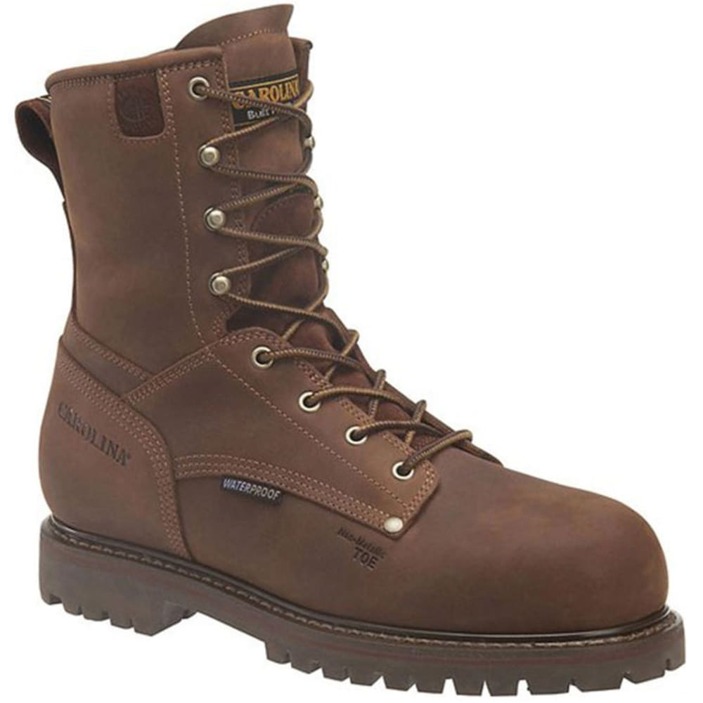 CAROLINA Men's 8 in. Waterproof Insulated Work Boots - BROWN