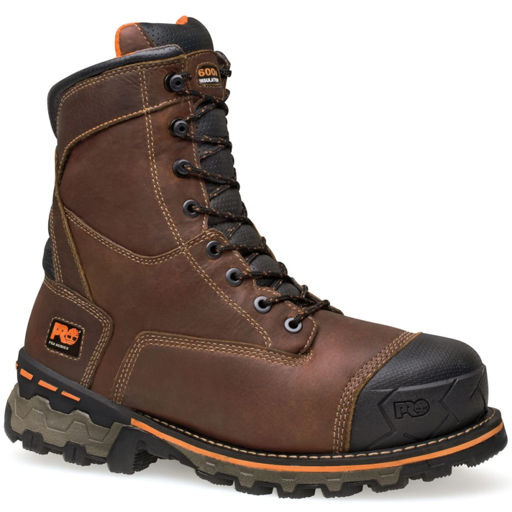 TIMBERLAND PRO Men's Brown Insulated Waterproof Work Boots 8.5