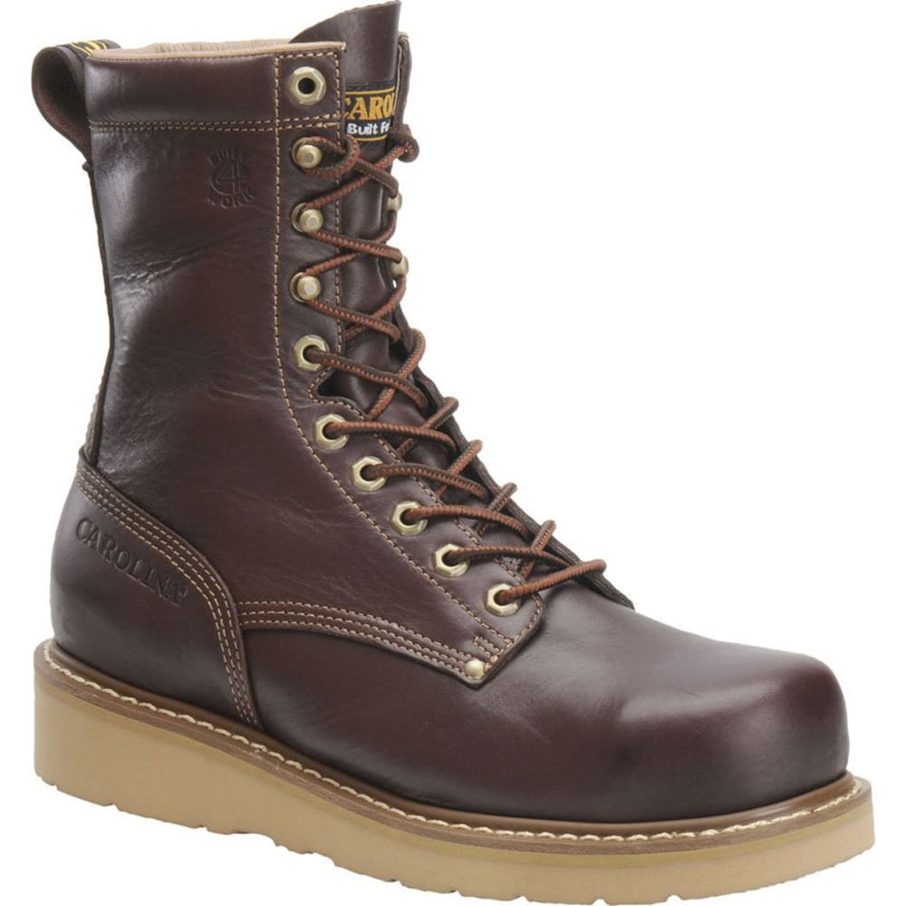 "CAROLINA Men's CA8049 Wide 8"" Broad Toe Wedge Work Boots, Dark Oak - BROWN"
