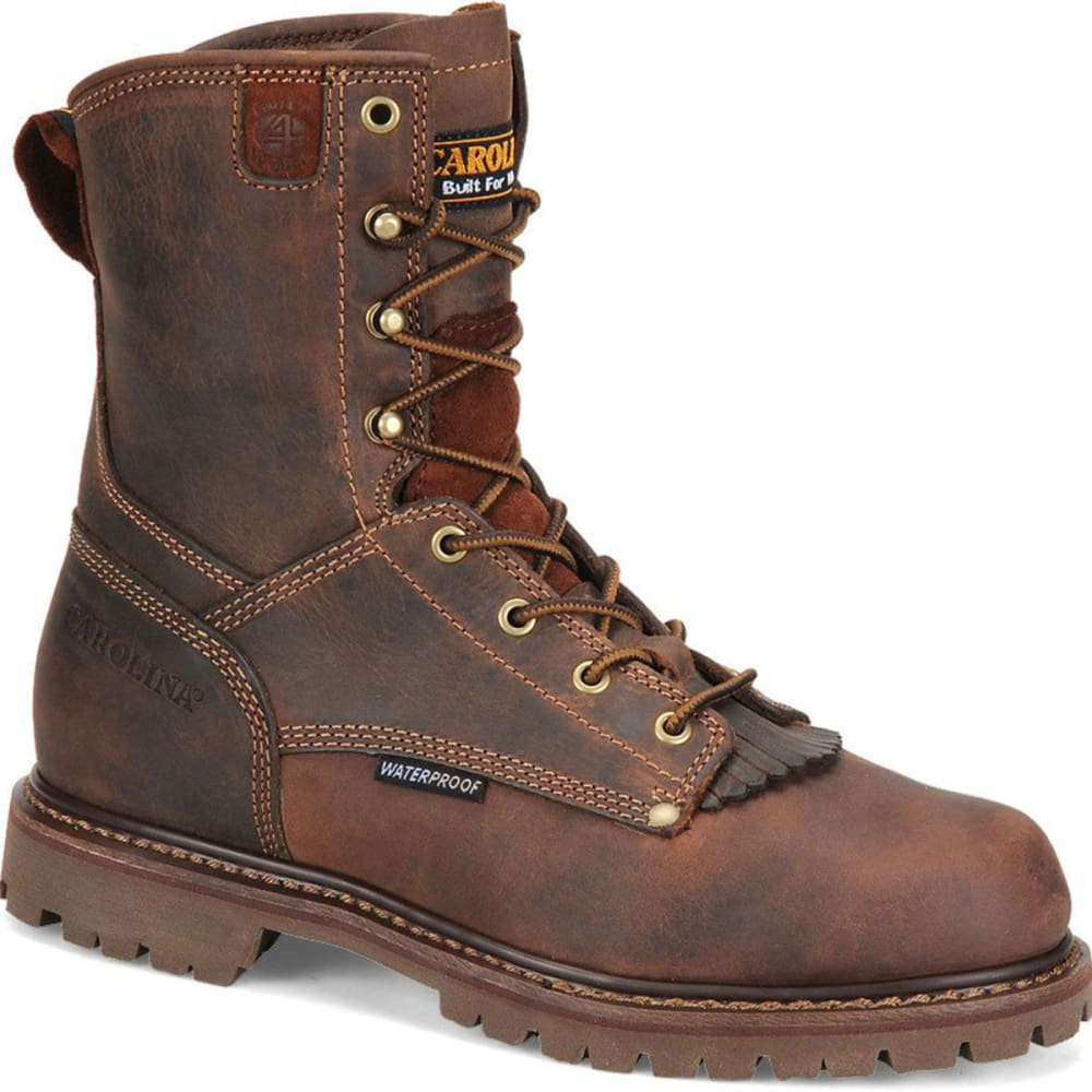 "CAROLINA Men's CA8028 Wide 8"" Waterproof Work Boots, Kharthoum Cigar - BROWN"