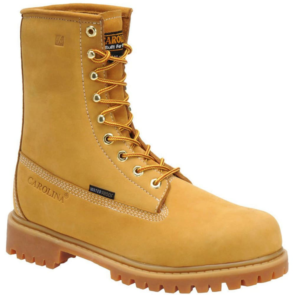 CAROLINA Men's 8 in. Waterproof Work Boots, Wide - WHEAT