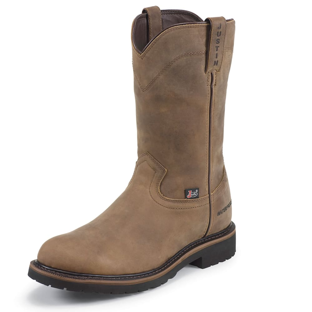 "JUSTIN BOOT Men's Wyoming 10"" Waterproof Round Toe Boot - TAN"