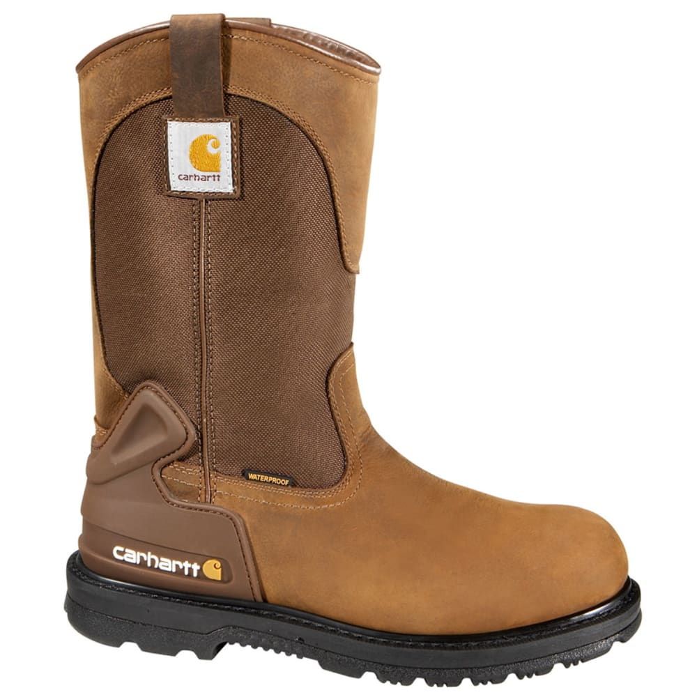 CARHARTT Men's 11-Inch Core Waterproof Wellington - BISON BROWN - MEDIUM