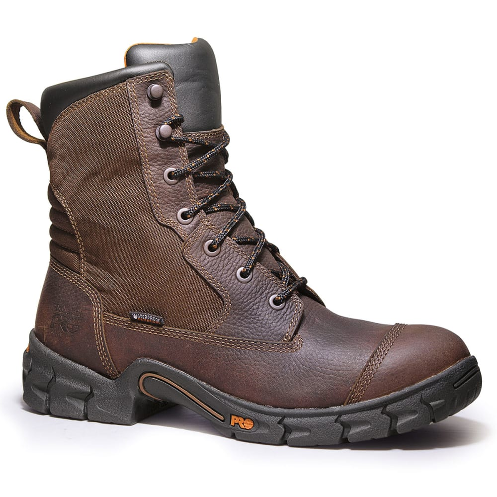 """TIMBERLAND PRO Men's Excave EH 8"""" Waterproof Boots, Wide Width - BROWN"""