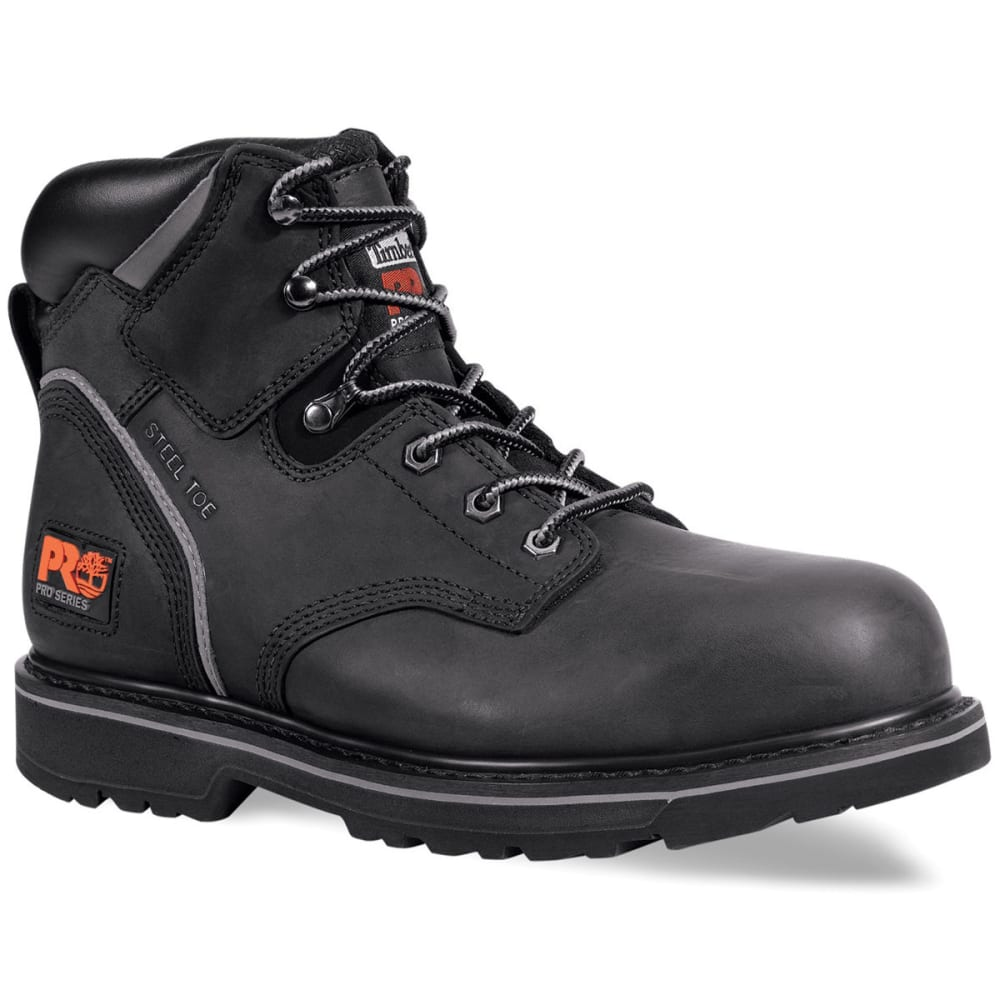 TIMBERLAND PRO Men's Pit Boss Steel Toe Work Boots, Wide - BLACK