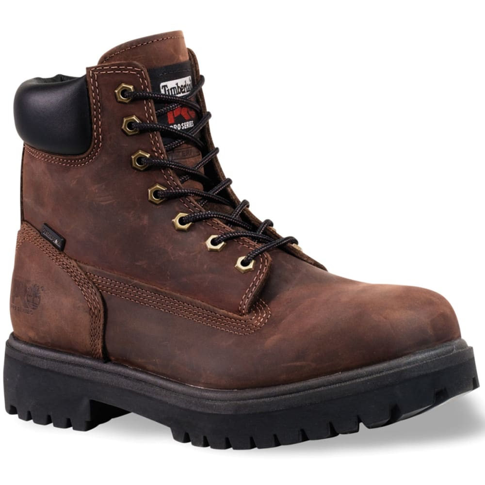 TIMBERLAND PRO Men's Direct Attach Steel Toe Work Boots, Wide - BROWN