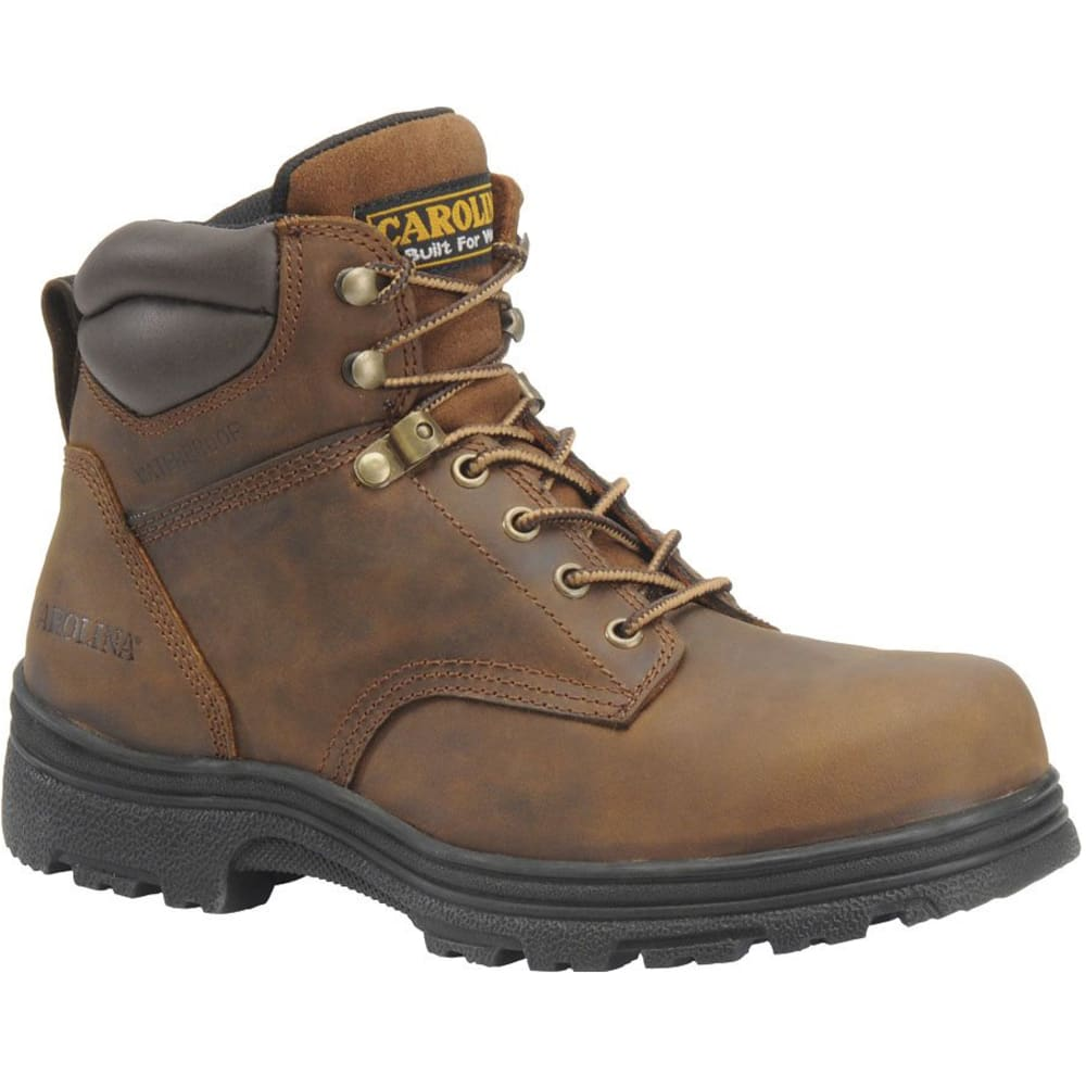 Carolina Men's 6 In. Steel Toe Work Boots - Wide Width - Brown, 8