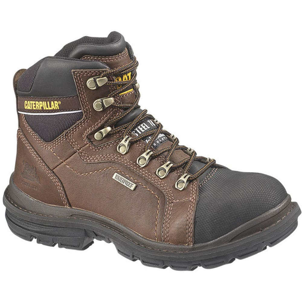 CAT Men's Manifold Waterproof Steel Toe Tough Flexion Boots - BROWN