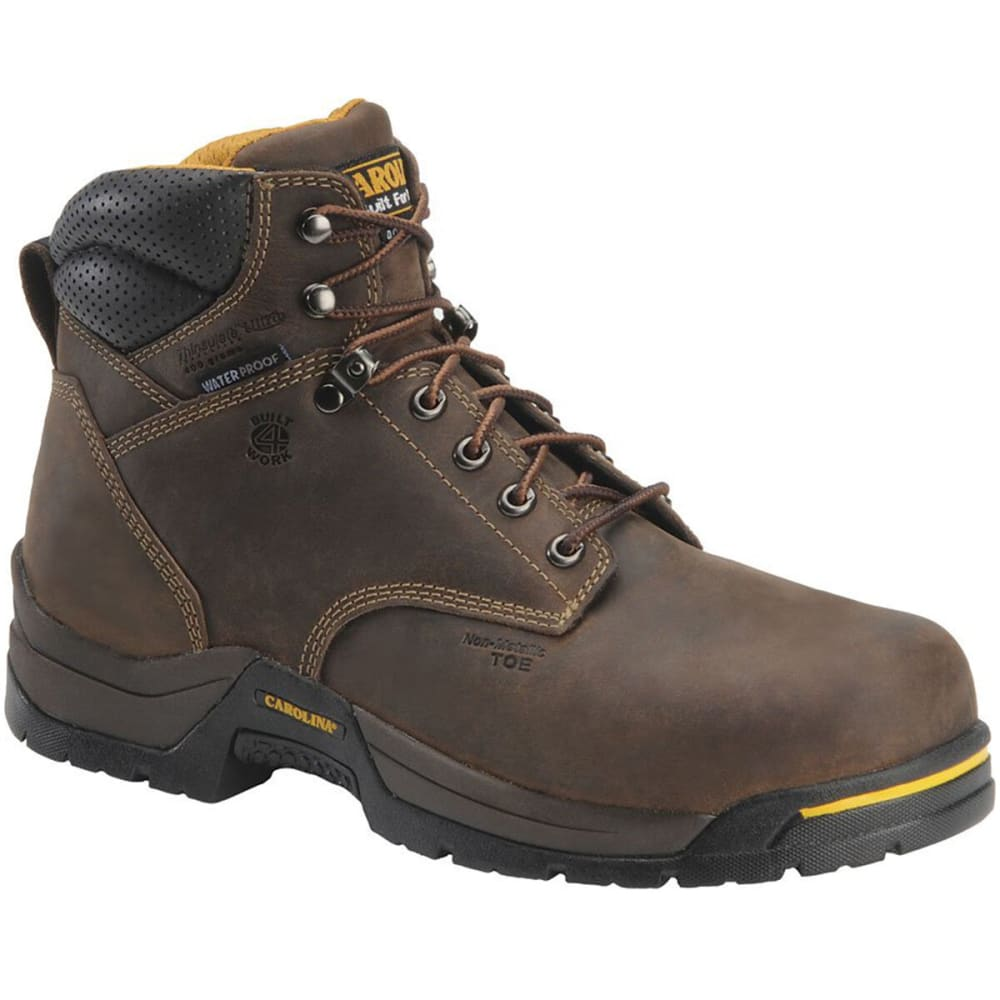 CAROLINA Men's 6 in. Waterproof 400G Insulated Broad Composite Toe Work Boot - BROWN