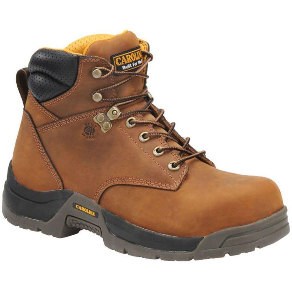 Carolina Men's 6 In. Waterproof Composite Broad Toe Work Boots, Wide Width - Brown, 7.5