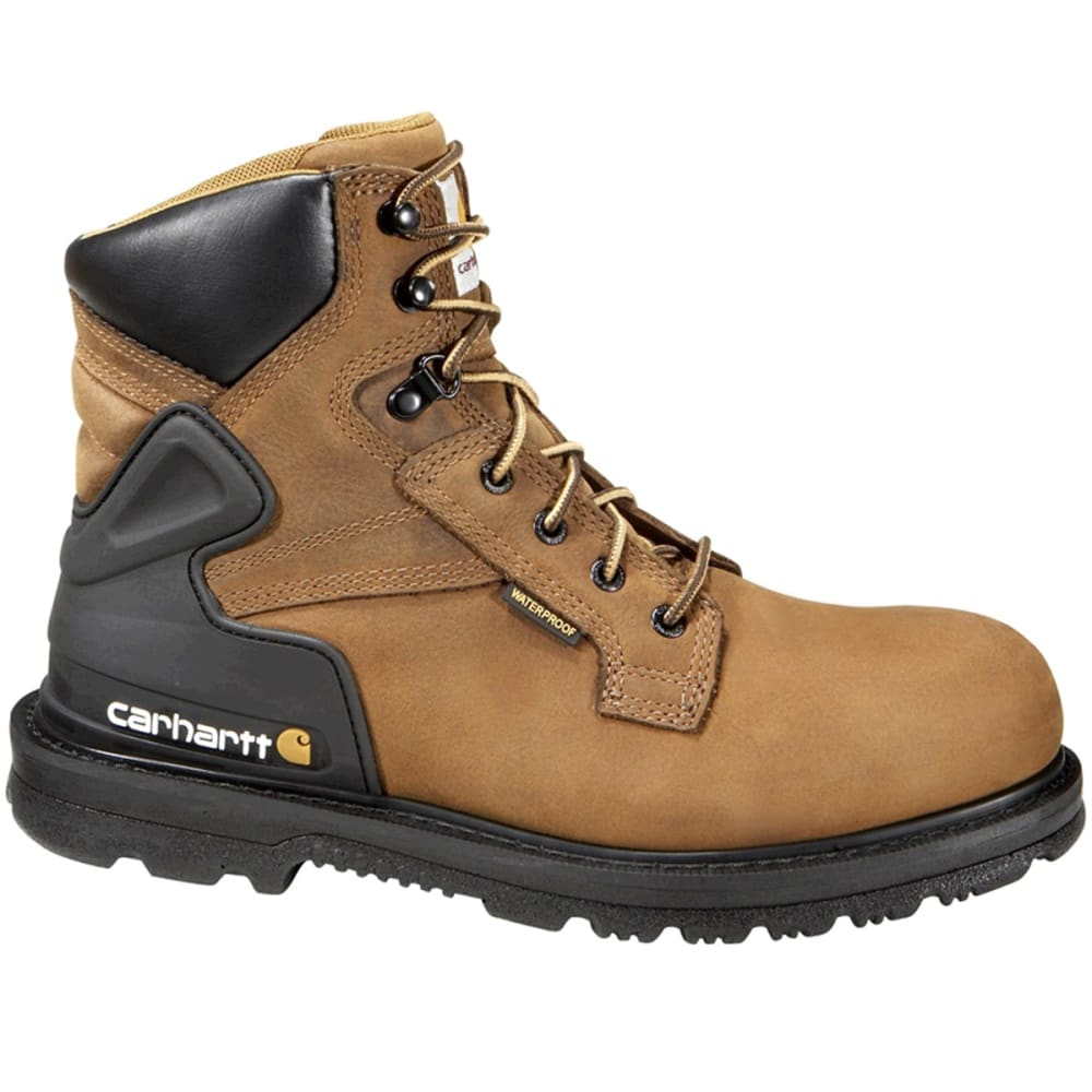 CARHARTT Men's 6-Inch Waterproof Work Boots - BISON BROWN OIL TAN