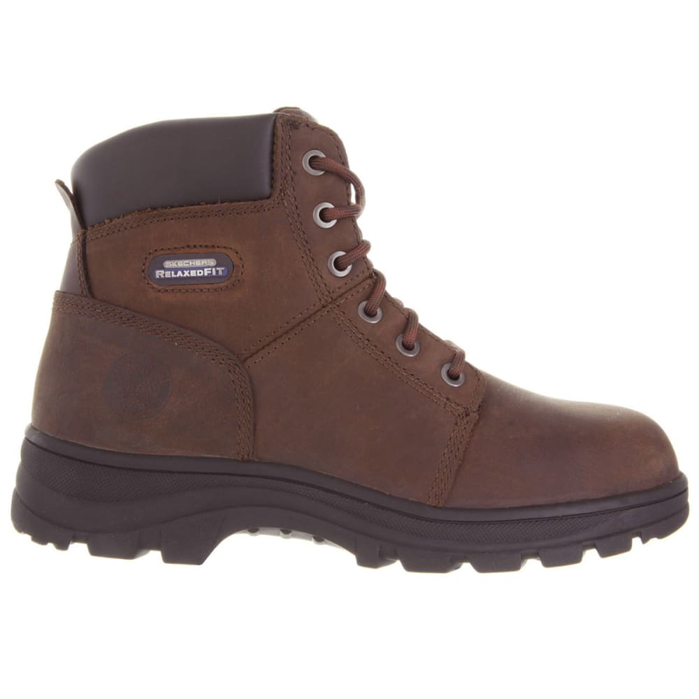 SKECHERS Men's Workshire Relaxed Fit Steel Toe Boot's - BROWN