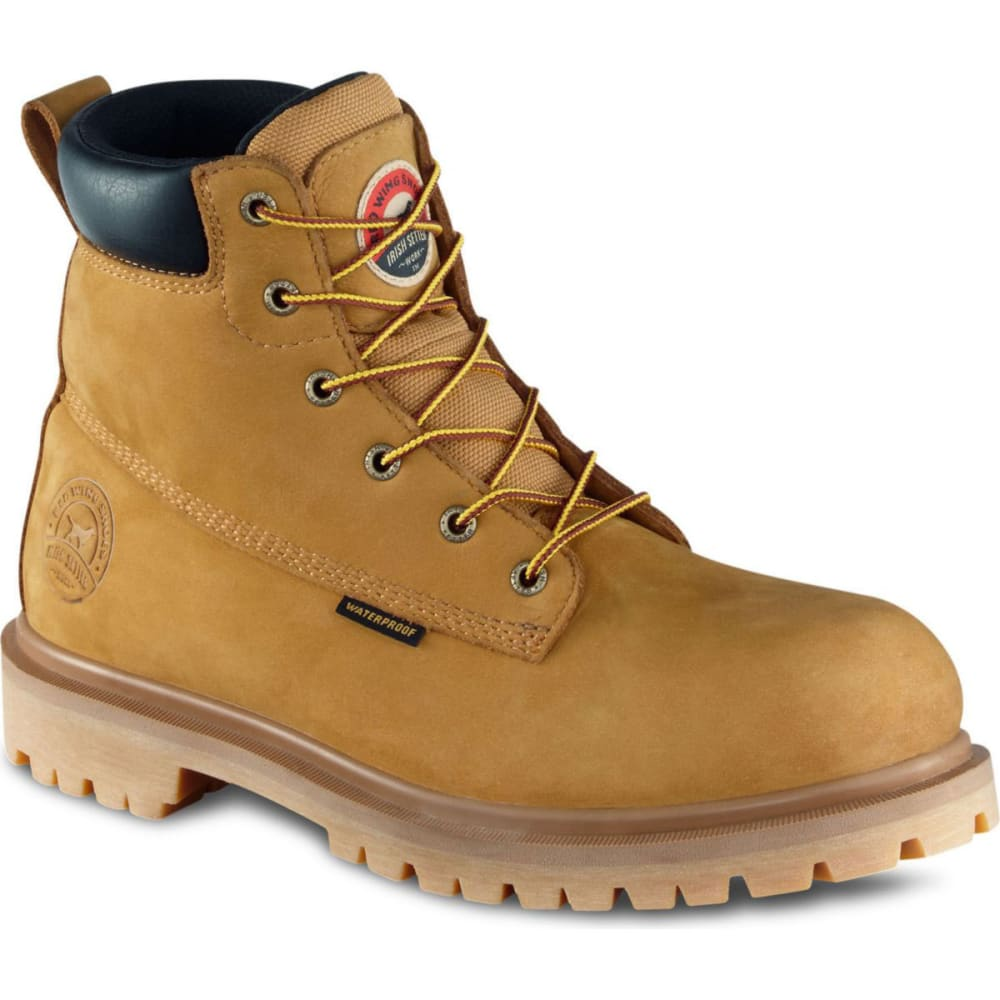RED WING BOOTS Men's Irish Setter 6 in. Waterproof Steel Toe Work Boots, EE Width - WHEAT