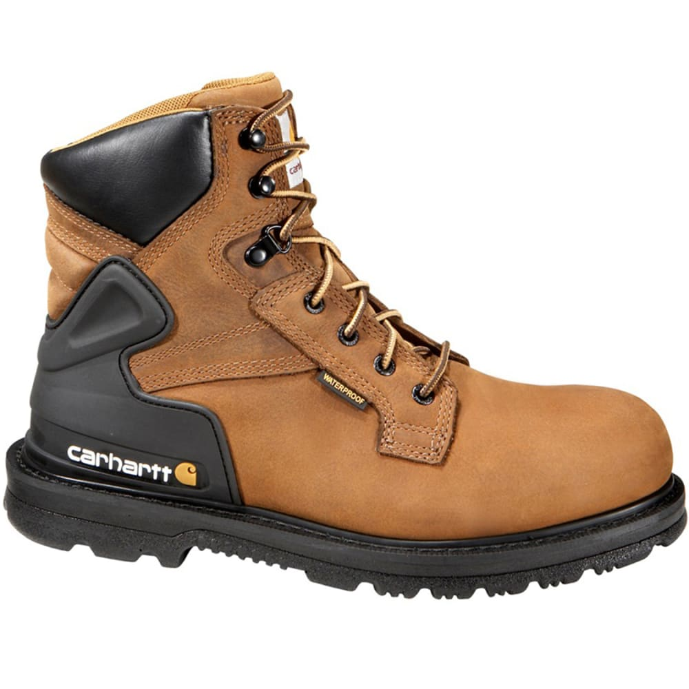 CARHARTT Men's 6-Inch Core Steel Toe Waterproof Work Boot - BISON BROWN OIL TAN