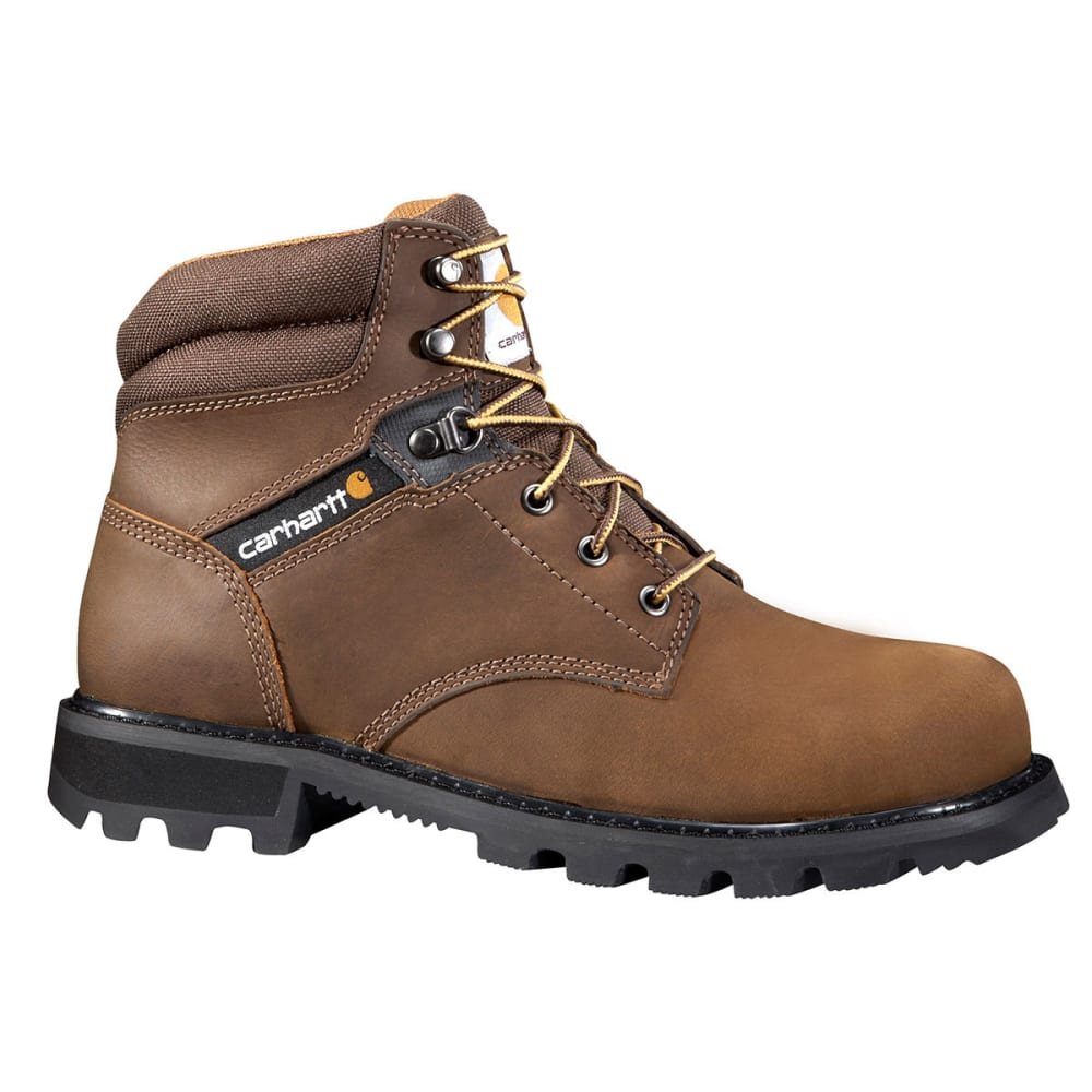 CARHARTT Men's 6-Inch Traditional Welt Work Boot, Steel Toe - BROWN - MEDIUM