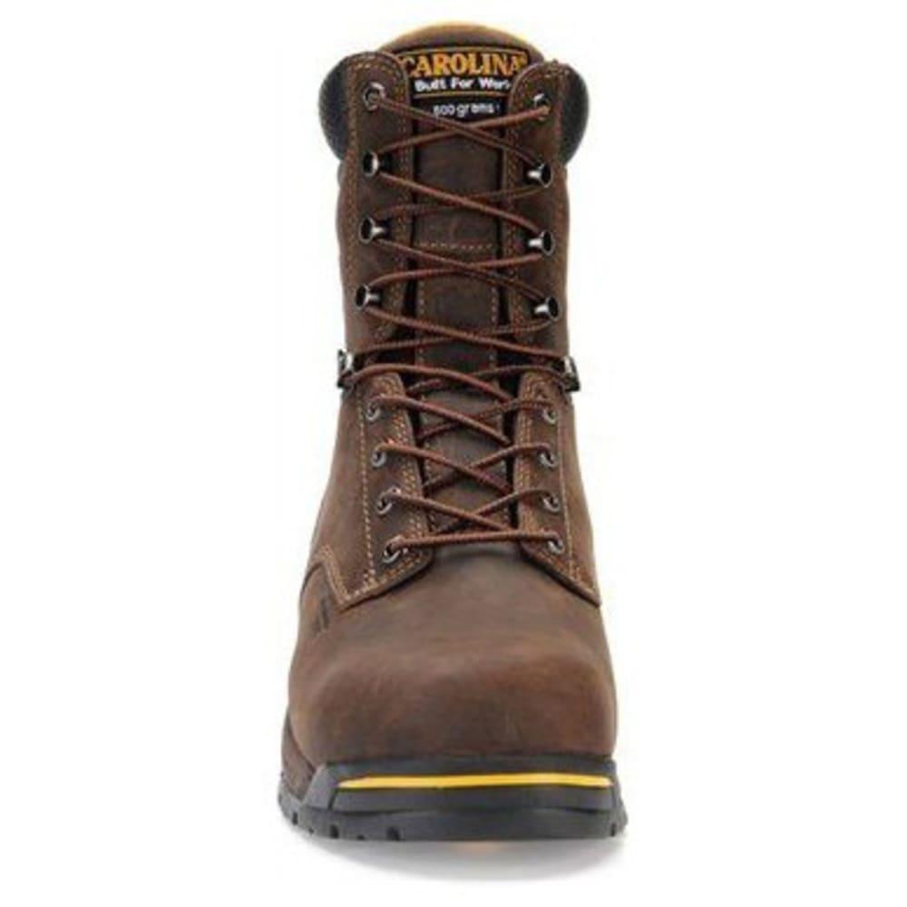 "CAROLINA Men's CA8521 Wide 8"" Composite Toe 600G Insulated Waterproof Work Boots, Gaucho Crazy Horse - BROWN"