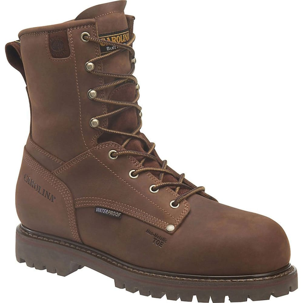 "CAROLINA Men's CA9528 Extra Wide 8"" Composite Toe 800G Insulated Waterproof Work Boots, Kharthoum Cigar - BROWN"