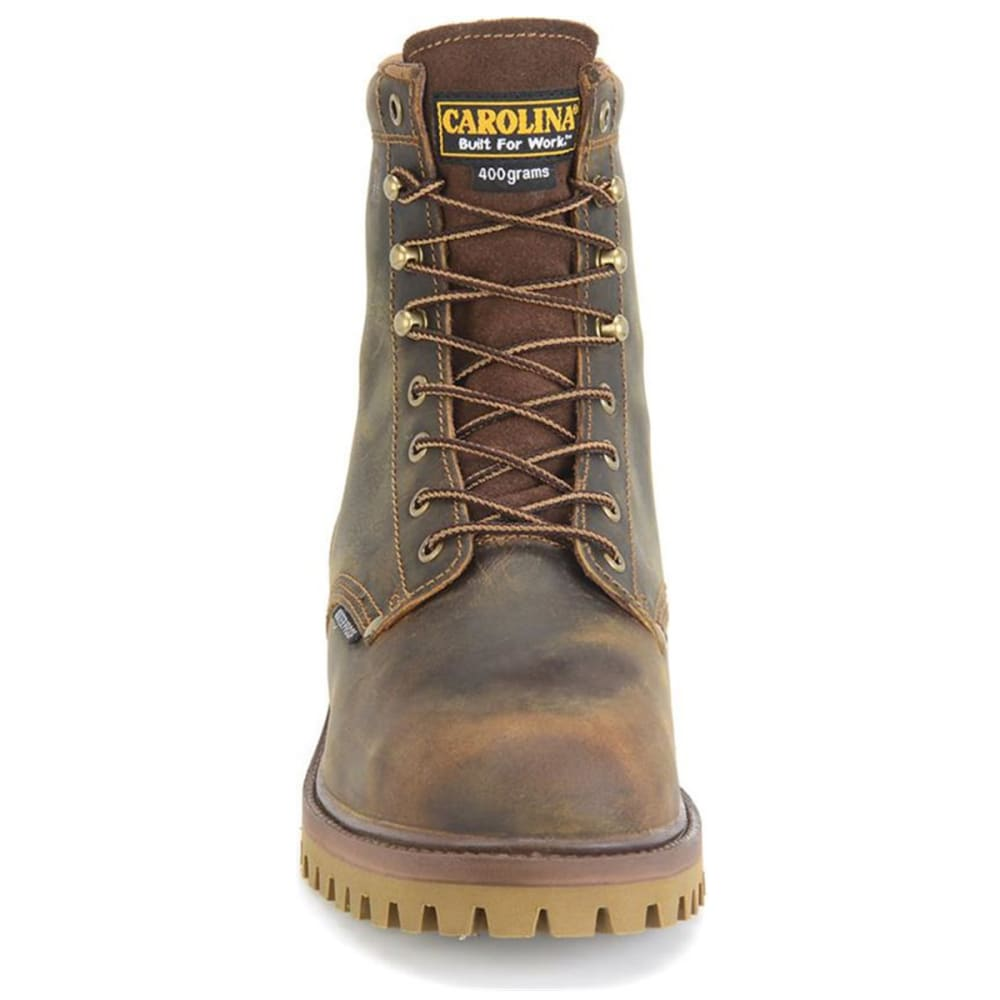 CAROLINA Men's 8 in. Steel Toe WP Insulated Work Boots - BROWN - WIDE