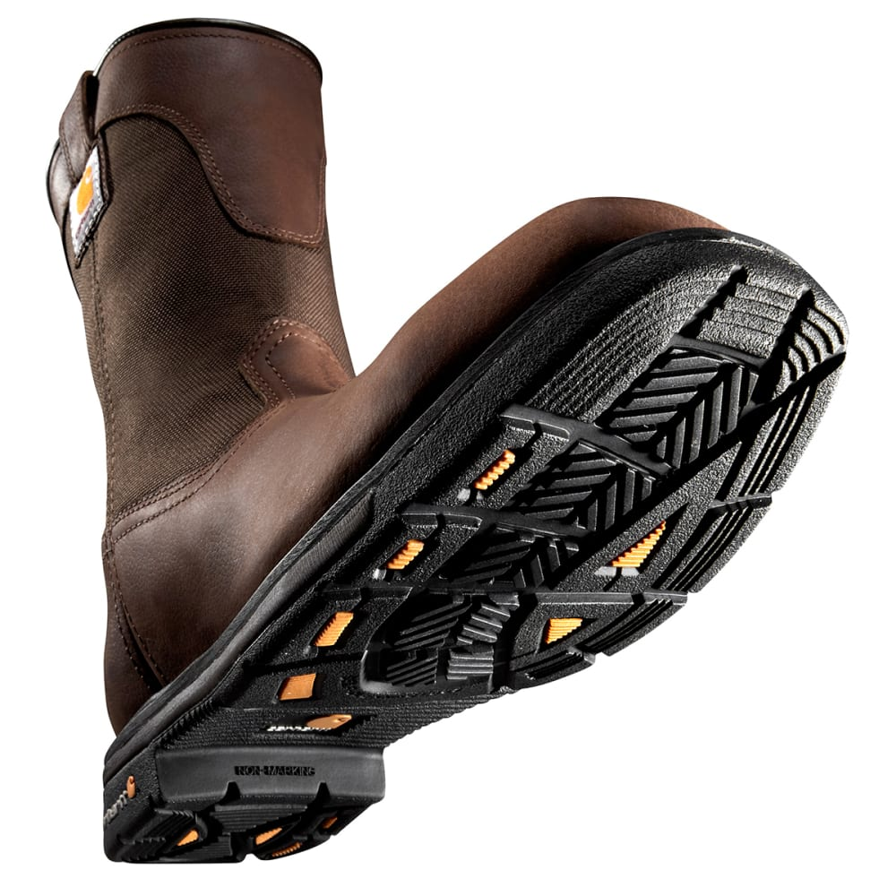 CARHARTT Men's 11-Inch Rugged Flex® Square Steel Toe Wellington - DK BISON OIL TANNED