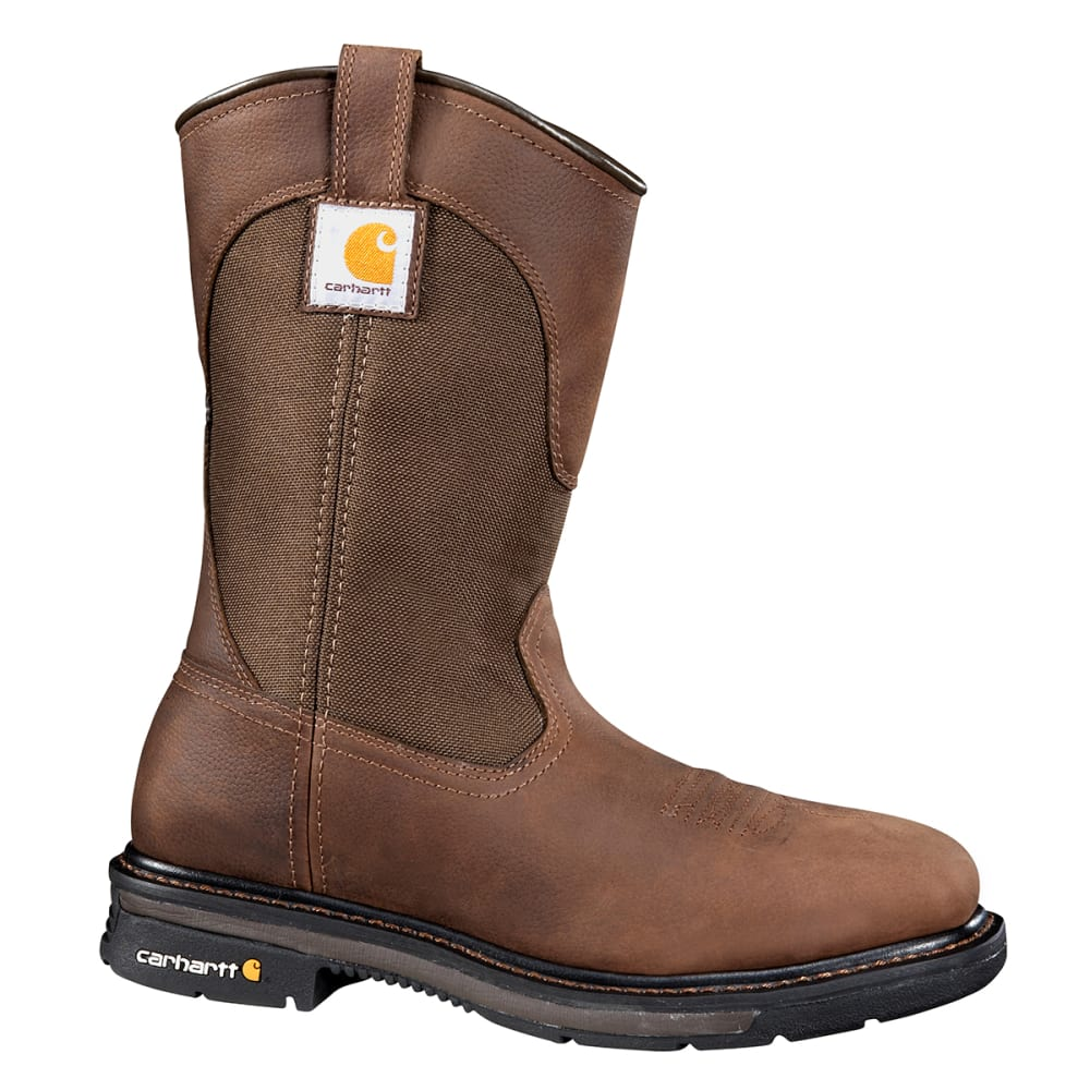 Carhartt Men's 11-Inch Rugged Flex(R) Square Steel Toe Wellington - Brown, 8