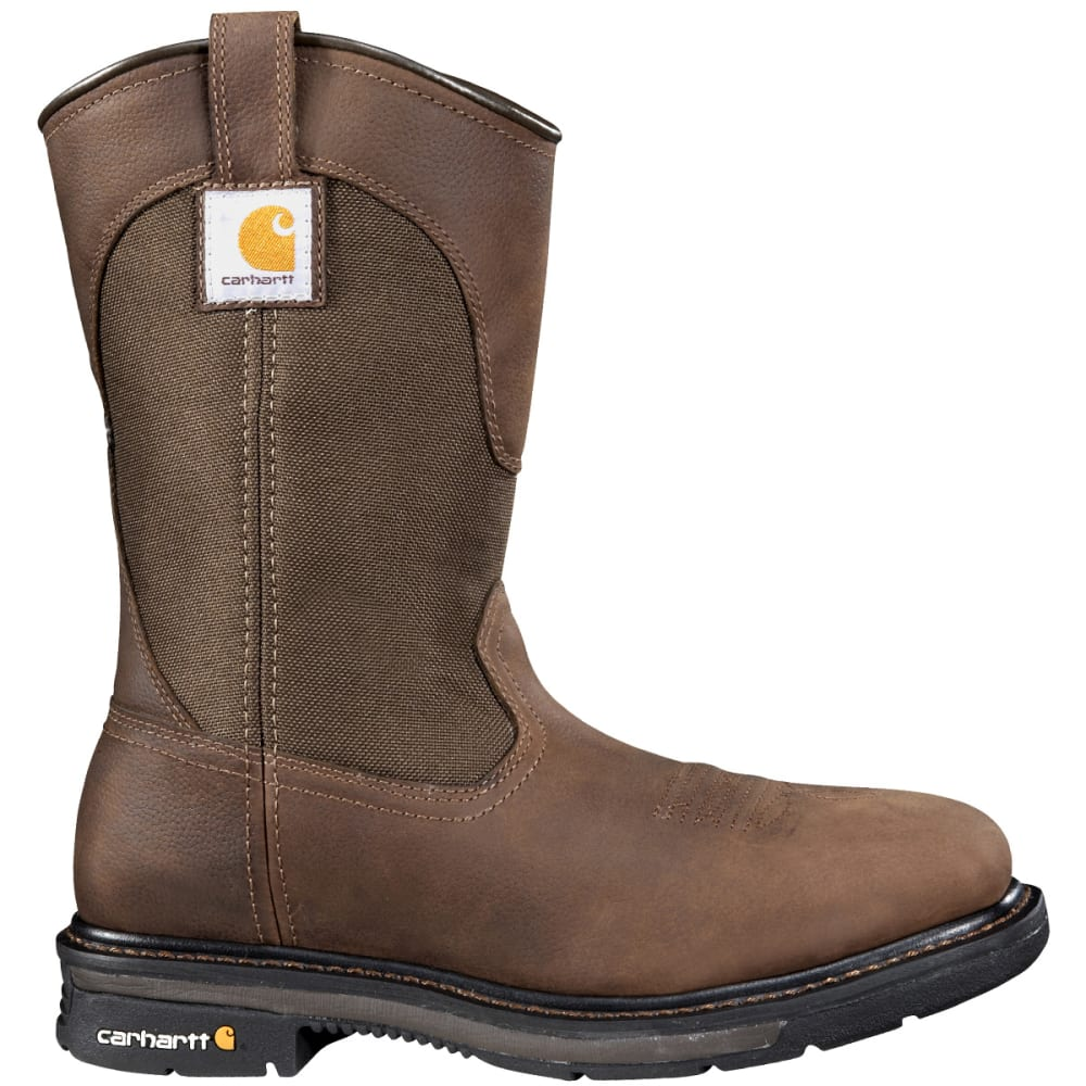 CARHARTT Men's 11 in. Square Toe Wellington Boots, Wide - DK BISON OIL TANNED