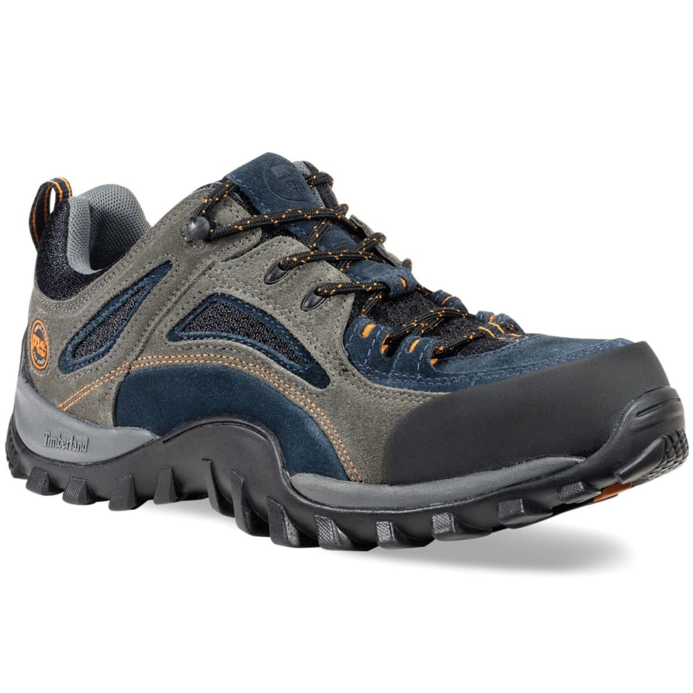 TIMBERLAND PRO Men's Mudsill Low Steel Toe Hiking Shoes, Wide - LIGHT GREY