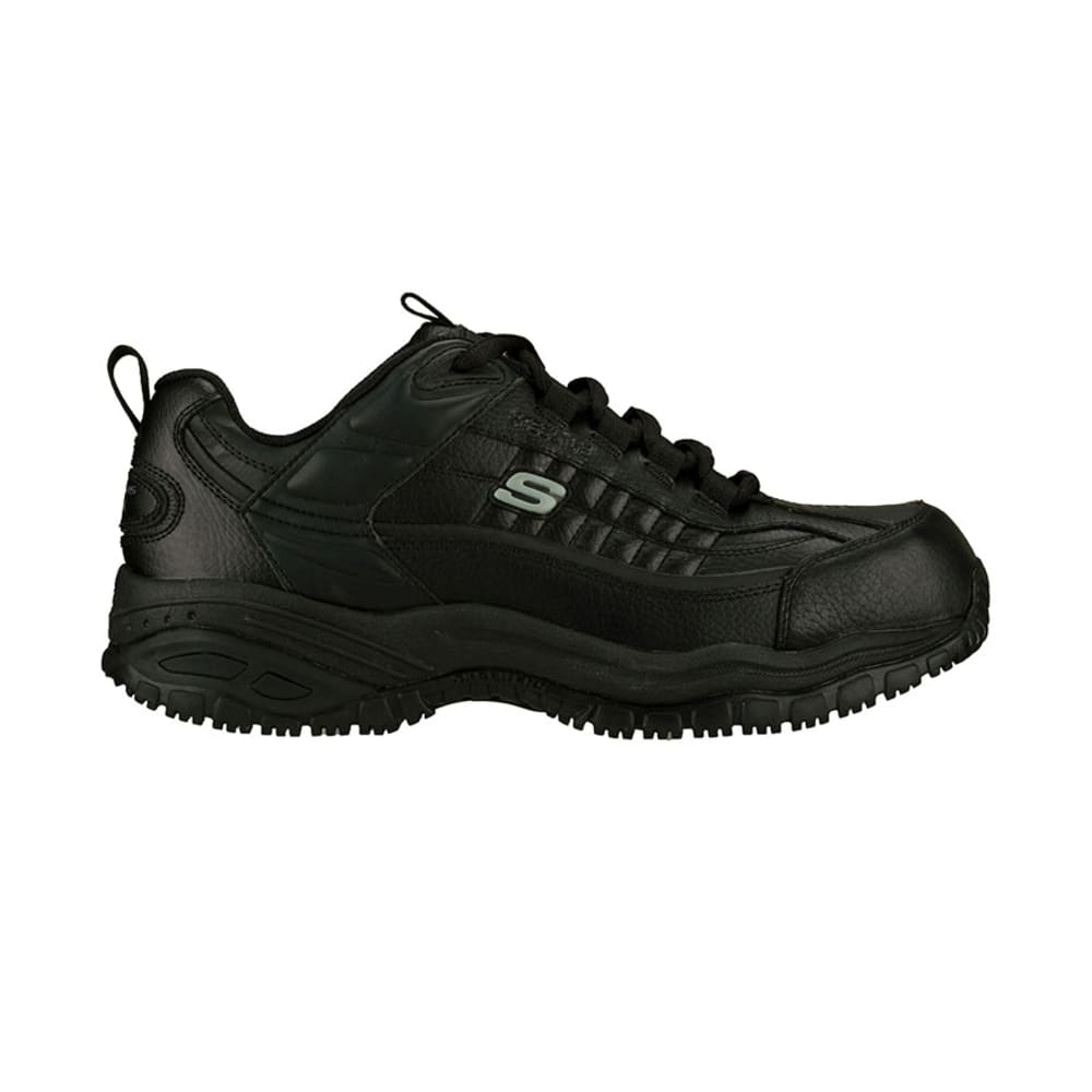 SKECHERS Men's Work Soft Stride Steel Toe Sneakers - BLACK