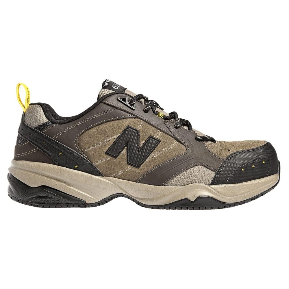 NEW BALANCE Men's 627 Steel Toe Work Shoes - BROWN