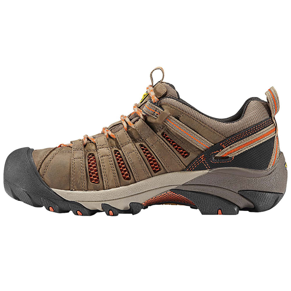 KEEN Men's Flint Low Steel Toe Shoes - SHITAKE/RUST