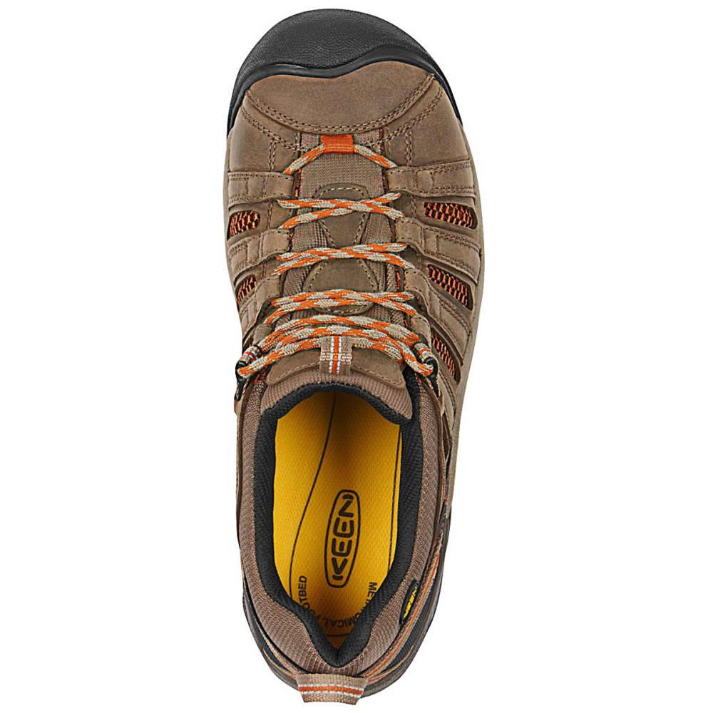 KEEN Men's Flint Low Steel Toe Shoes - SHITAKE/RUST